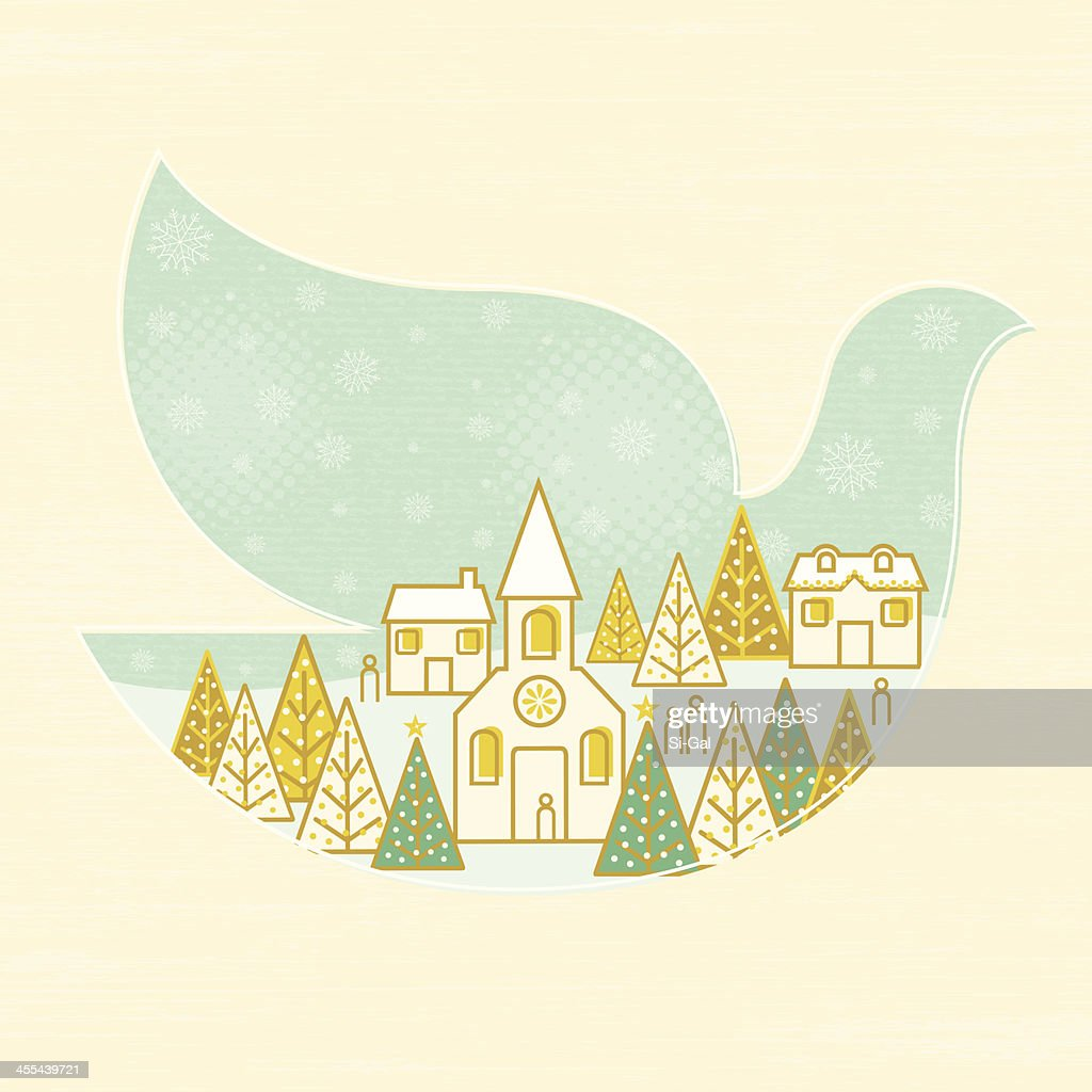 Christmas Dove : Vector Art