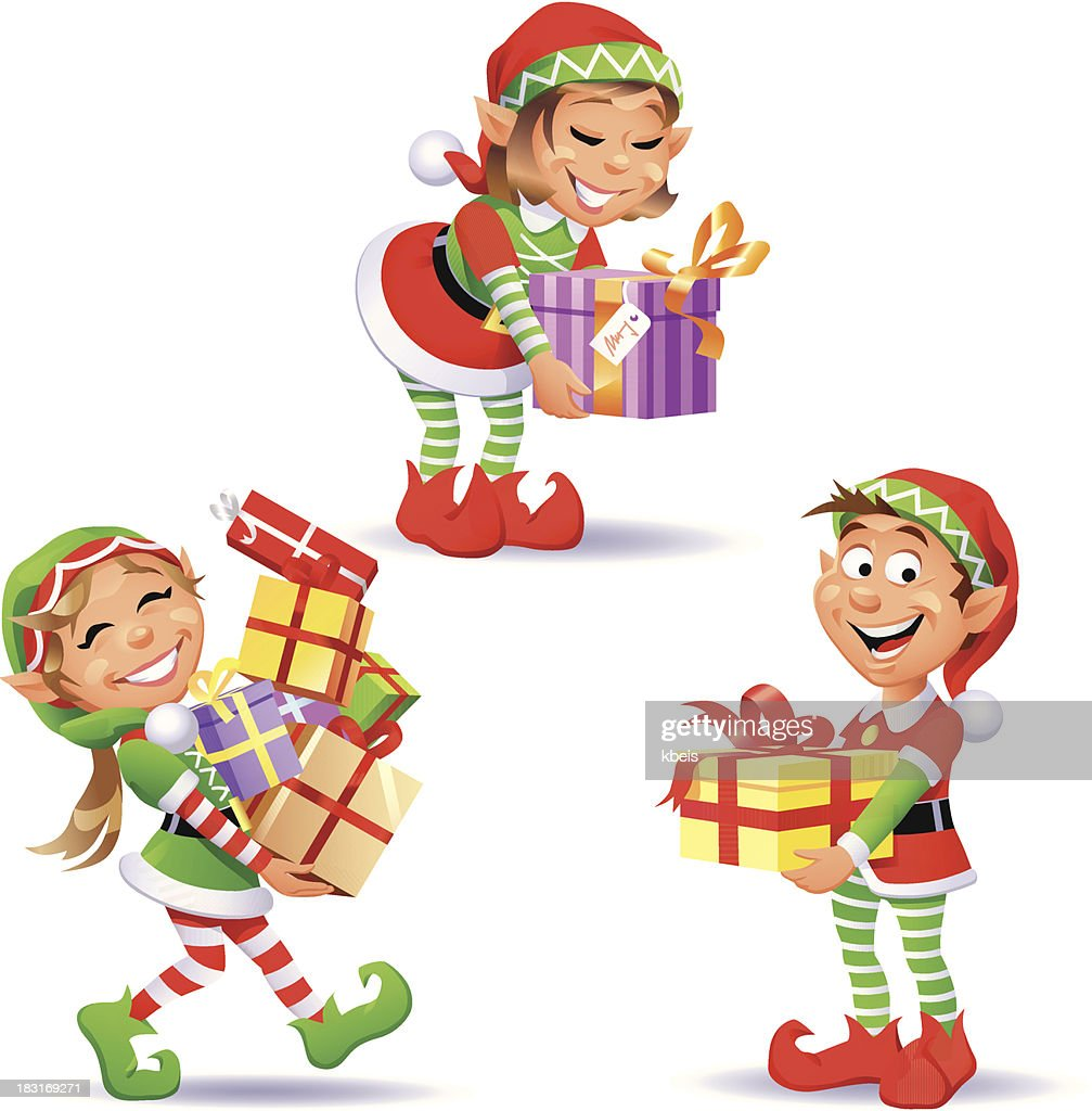 Christmas Elves 4 : Vector Art