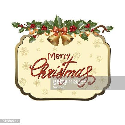 Christmas frame : Vector Art