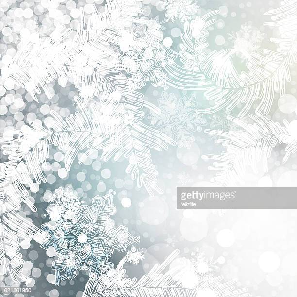 christmas frozen background