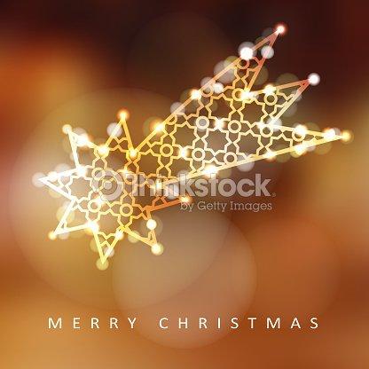 Navidad Tarjeta De Felicitación Invitación Con Iluminado