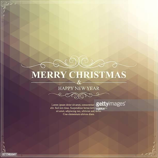 Weihnachten Grußkarte.  Frohe Weihnachten-Schriftzug auf strahlend goldenen Hintergrund