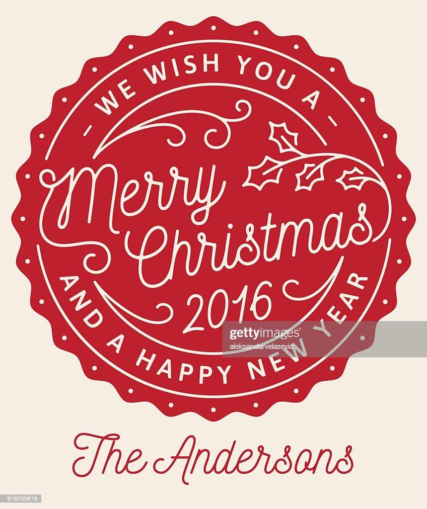 Tarjeta de felicitación de Navidad : Arte vectorial