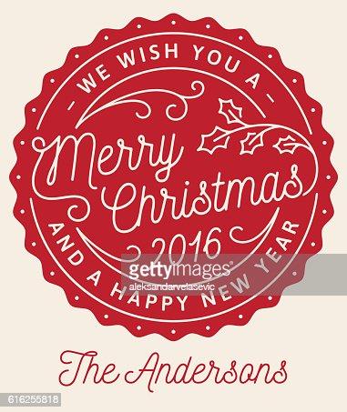 Cartão de saudação de Natal : Arte vetorial