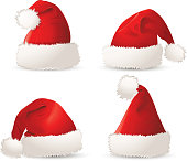 Set of christmas hat