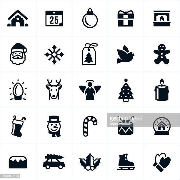Weihnachten Urlaub Symbole