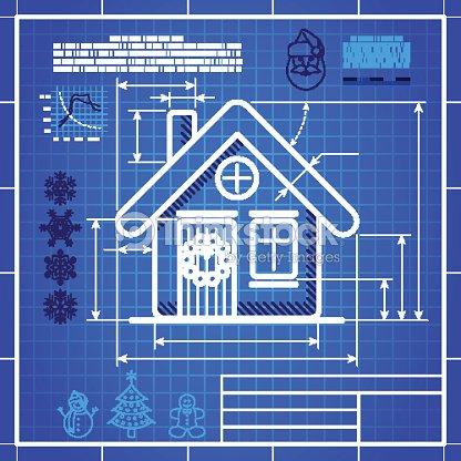 Christmas house icon like blueprint drawing vector art thinkstock christmas house icon like blueprint drawing vector art malvernweather Choice Image