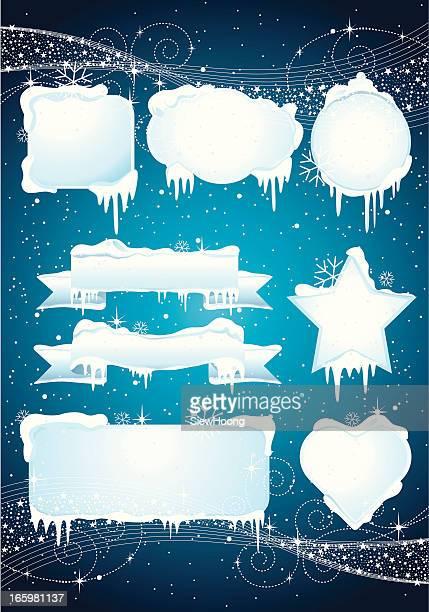 Christmas Banner de hielo