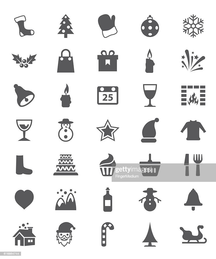 Christmas icon set : Vector Art