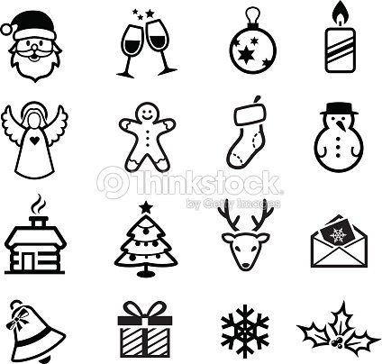 christmas icons vector art thinkstock. Black Bedroom Furniture Sets. Home Design Ideas