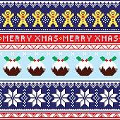 Winter, Xmas pattern or greetings card - vector design