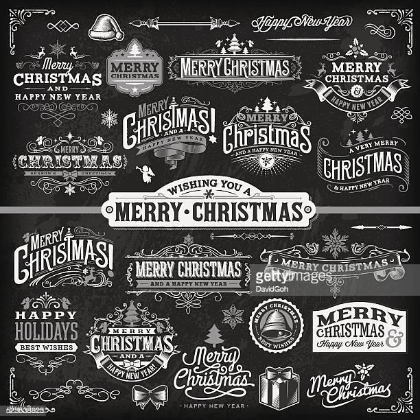 Étiquette de Noël ensemble-Chalkboard