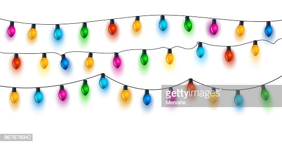 Christmas Light Bulbs on White : Vector Art