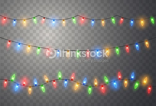 Christmas lights. Colorful bright Xmas garland. Vector red, yellow, blue and green glow light bulbs : stock vector
