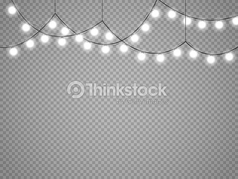 christmas lights isolated on transparent background vector xmas glowing garland vector art