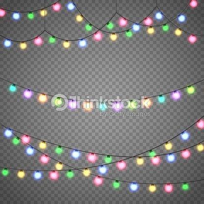 Pearl Weihnachtsbeleuchtung.Weihnachtsbeleuchtung Auf Transparenten Hintergrund Isoliert Xmas