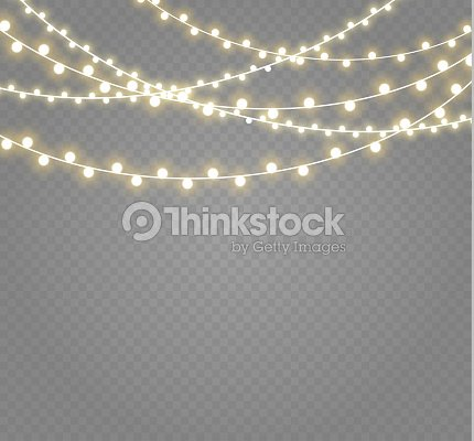 Christmas Lights Isolated On Transparent Background Xmas