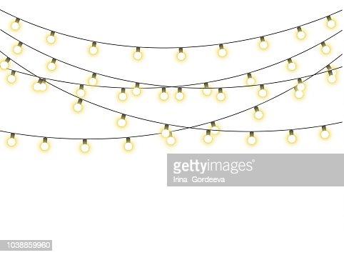 Christmas lights isolated : stock vector