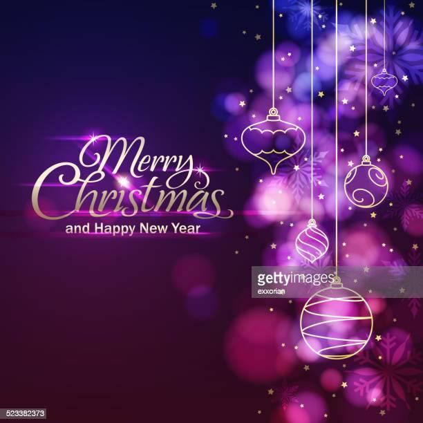 Christmas Lights & Ornamnets Hintergrund