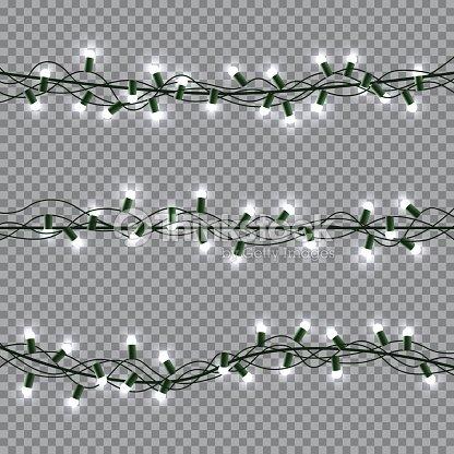 Christmas Lights Transparent Background.Christmas Lights Transparent Background Stock Vector