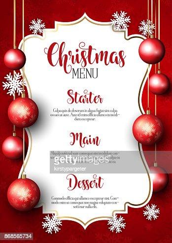 Fondo de diseño de menú de Navidad : Arte vectorial