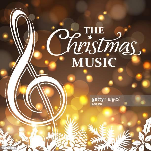 Weihnachts-Musik und Blumenmuster