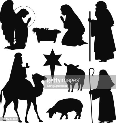 Christmas Nativity Silhouettes Vector Art | Getty Images