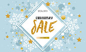 Christmas, new year, winter sale banner. Poster, background, flyer, invitation card, template design with winter elements. Vector illustration EPS 10