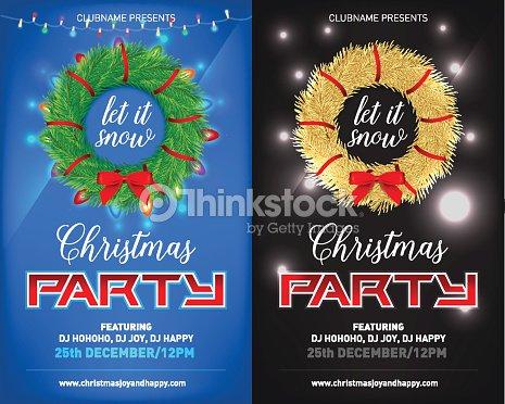 Cartel De La Fiesta De Navidad De Noche Invitación Tarjeta