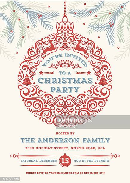 Christmas Ornament Party Invitation
