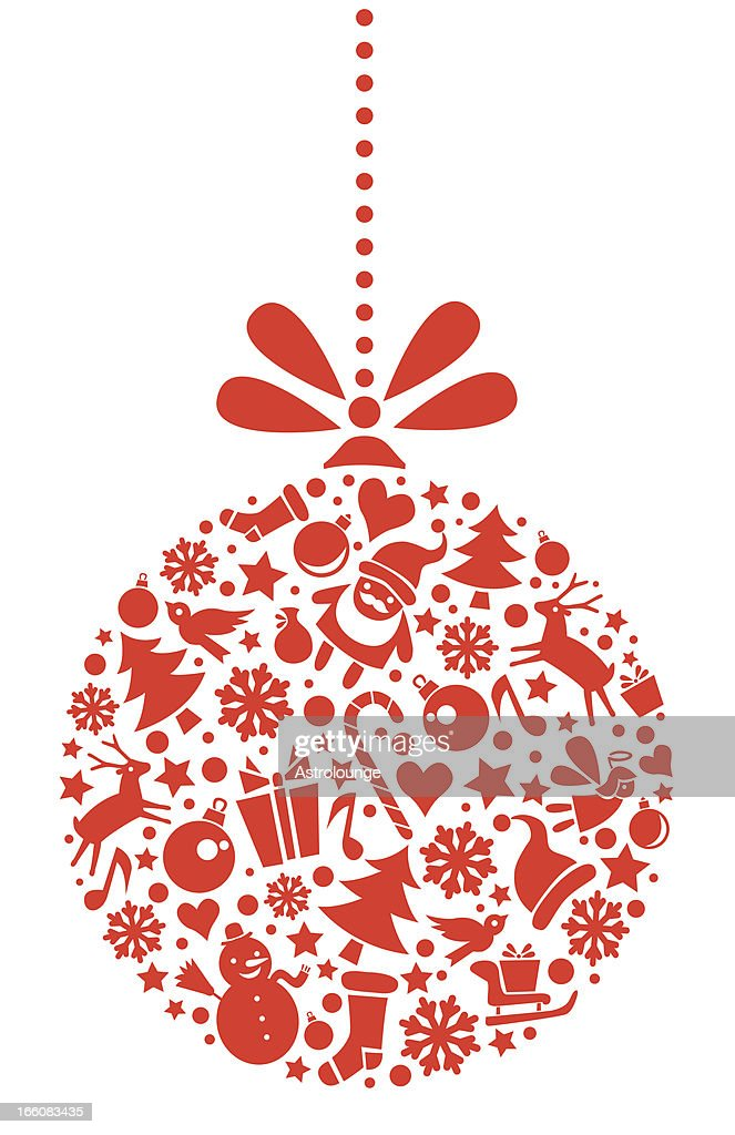 Christmas ornament vector art getty images
