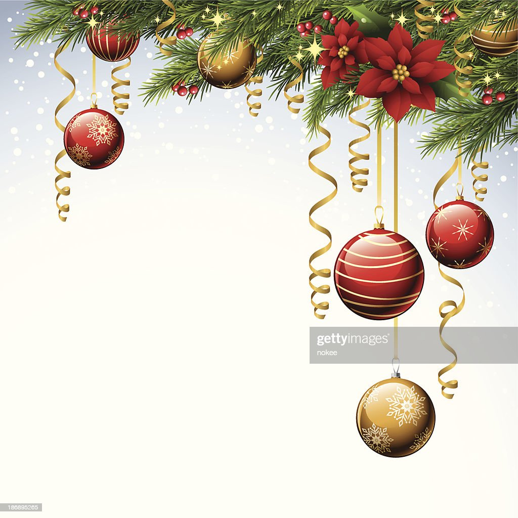 Christmas Ornaments : Vector Art