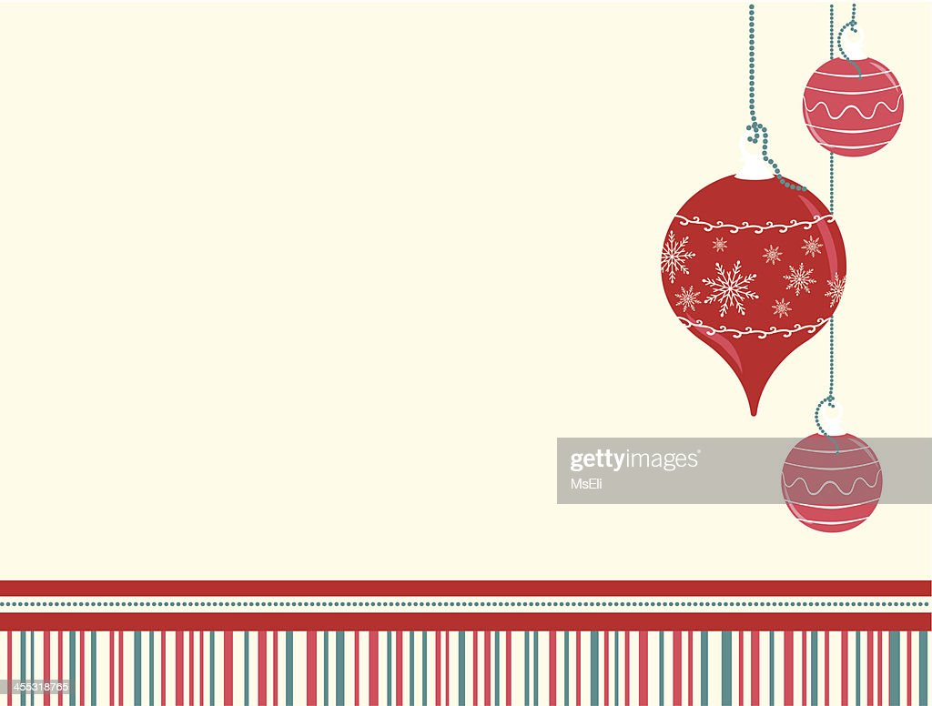 Christmas Ornaments With Striped Pattern : Vector Art
