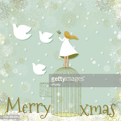 Christmas peace : Vectorkunst