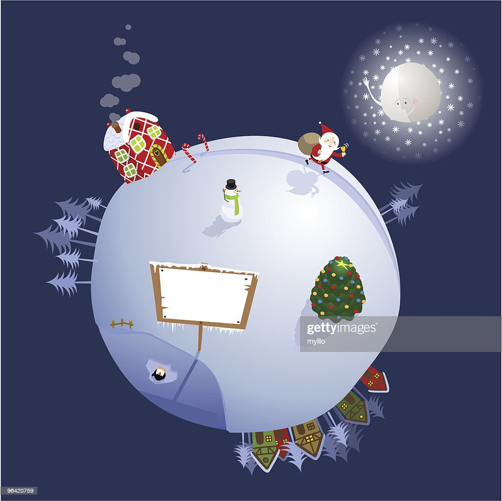 Christmas planet : Vector Art