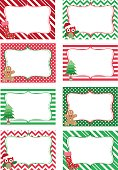 The vector for Christmas Printable labels Set.Photo Frame, Gift Tags,Invitation