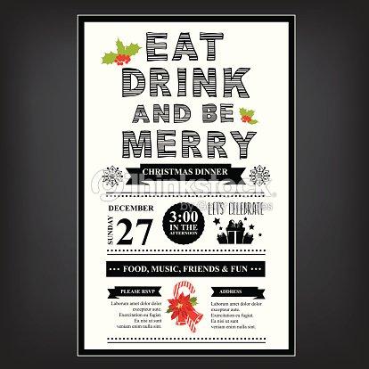 Christmas restaurant and party menu invitation vector art thinkstock christmas restaurant and party menu invitation vector art stopboris Images