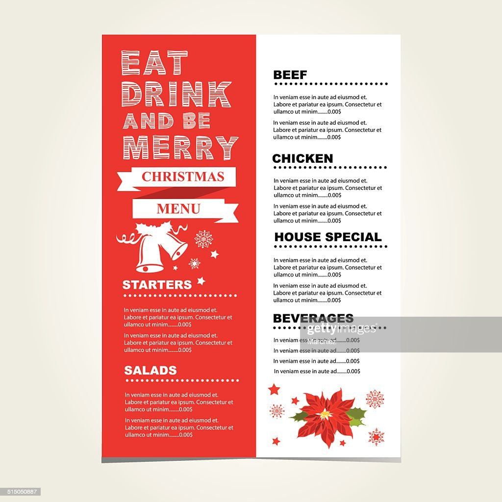 Christmas restaurant and party menu invitation vector art getty images christmas restaurant and party menu invitation vector art stopboris Images
