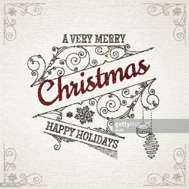 Christmas retro postcard