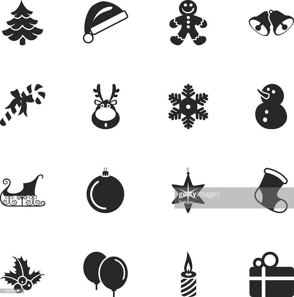 weihnachten silhouette icons vektorgrafik getty images. Black Bedroom Furniture Sets. Home Design Ideas
