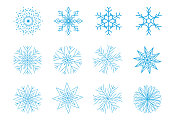 Christmas Snowflakes on White Background. Vector Illustration. EPS10