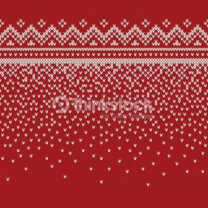 Christmas Sweater Pattern.Christmas Sweater Design Seamless Knitted Pattern Stock