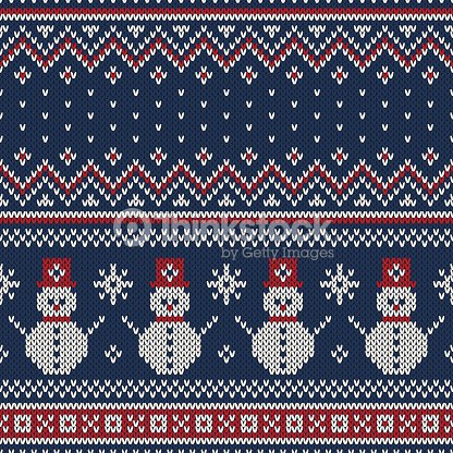 2e17ab1e8 Christmas Sweater Design Seamless Knitted Pattern stock vector ...
