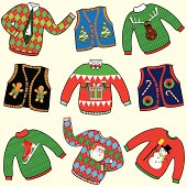 Dare to wear ugly Christmas Sweaters clipart.  Great for your Christmas Party
