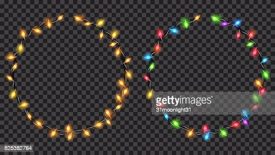 Christmas translucent fairy lights ring shaped : Vector Art