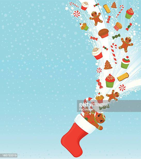 Christmas treats and sweets background