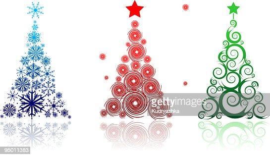 Arbre De Noël Magnifique Pour Votre Design Clipart Vectoriel