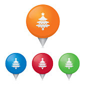 Christmas Tree Map Markers