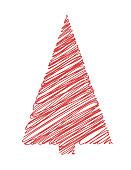 Christmas Tree on white background. Vector illustration