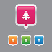 Christmas Tree Pin Marker Icons